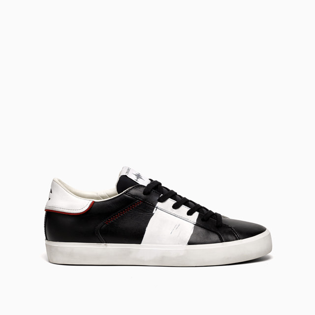 CRIME LONDON LOW TOP DISTRESSED