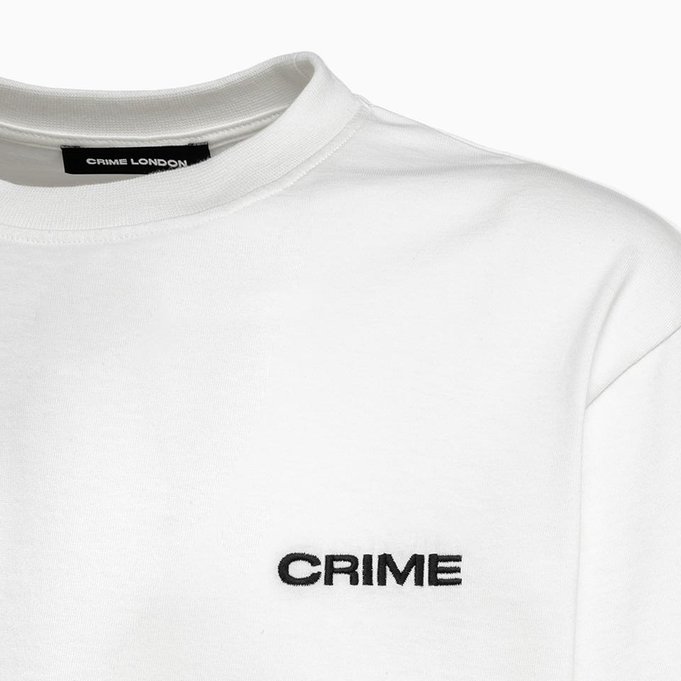 CRIME LONDON: MEN'S LOOSE FIT CREW NECK T-SHIRT