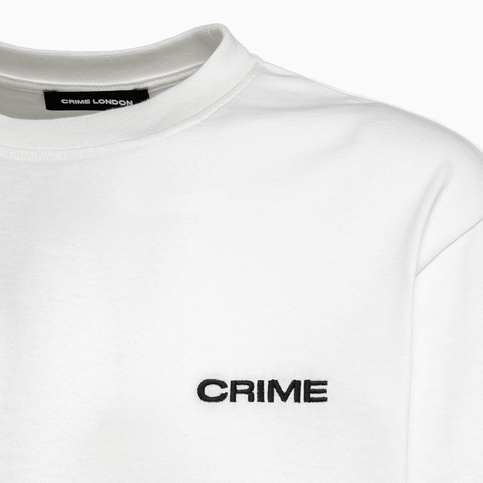 CRIME LONDON: WOMEN'S LOOSE FIT CREW NECK T-SHIRT